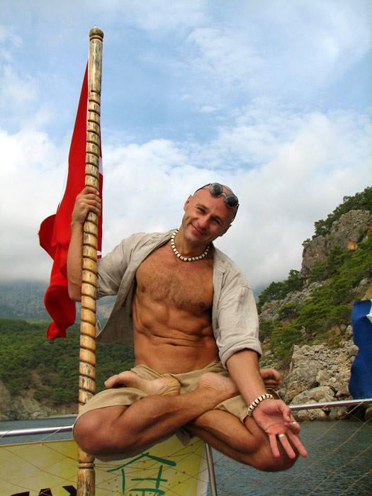Турция, Адрасан, йога-тренинг Жени Та'ковского