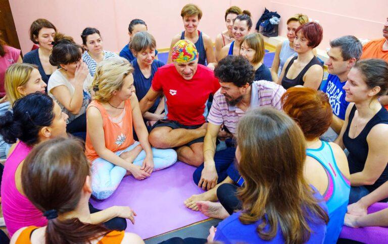 Киев, КиевЙогаСтудия, 2018 год,семинар Жени Та'ковского по пробужденной медитации
