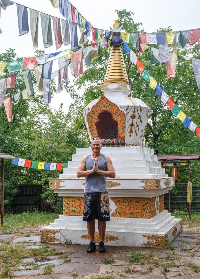 Ступа на острове Хортица, 2018 год, , занятие Жени Та'ковского по пробужденной медитации